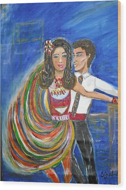 Latin Dancers 11 Wood Print by BJ Abrams