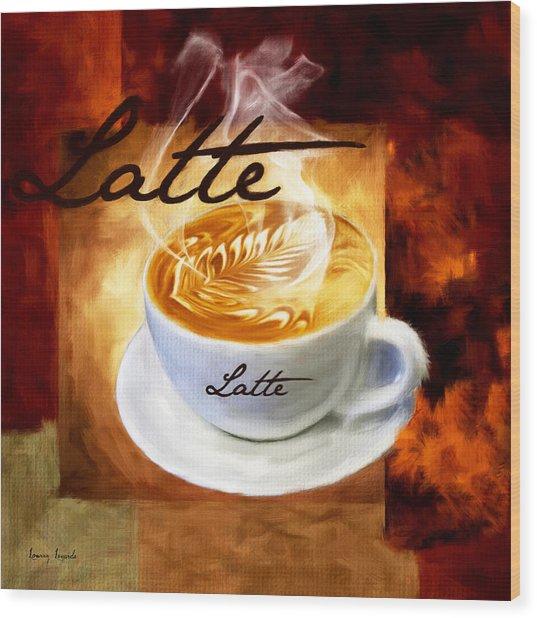 Latte Wood Print