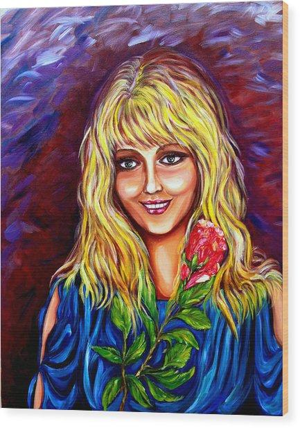 Laughing Rose Wood Print