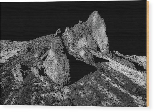 Launch Rock Wood Print