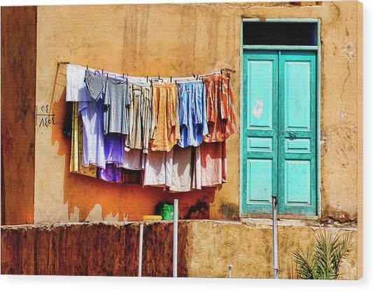 Laundry  Wood Print