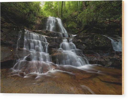 Laurel Falls Great Smoky Mountains Tennessee Wood Print