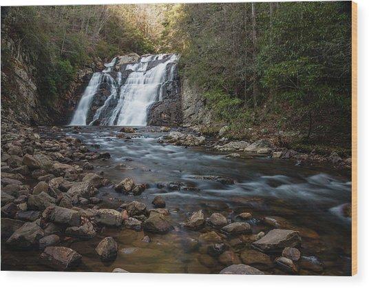 Laurel Falls In Autumn #1 Wood Print