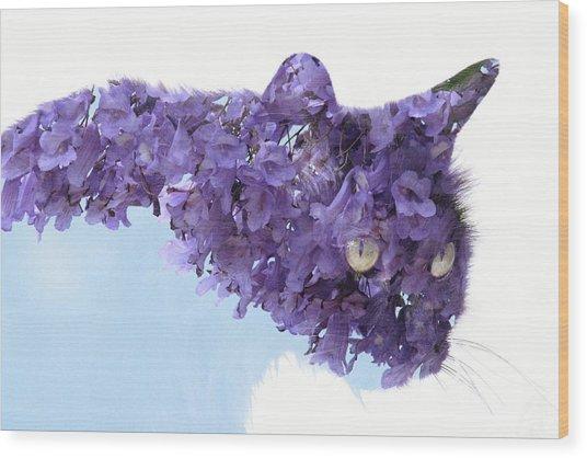 Laurel Tree In Cat Wood Print