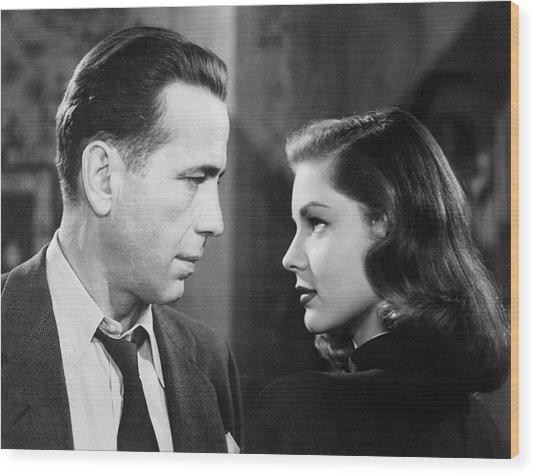 Lauren Bacall Humphrey Bogart Film Noir Classic The Big Sleep 2 1945-2015 Wood Print