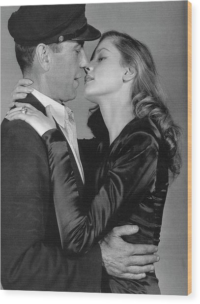 Lauren Bacall Humphrey Bogart To Have And Have Not 1944 Wood Print