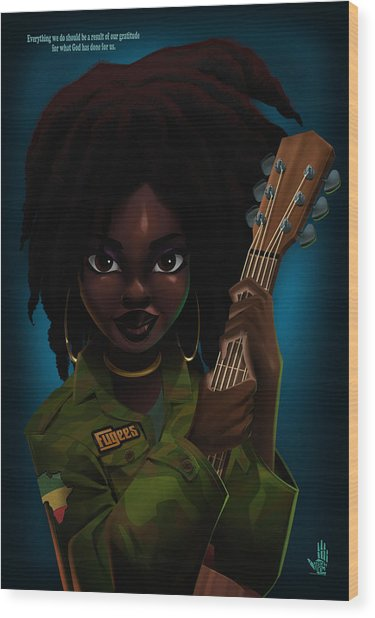 Lauryn Hill Wood Print