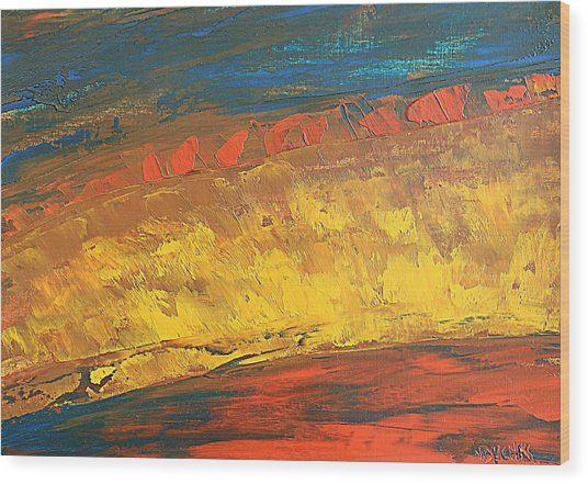 Lava Flow Wood Print