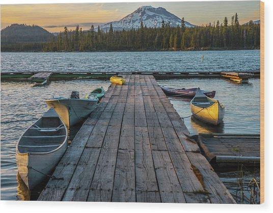 Lava Lake Evening  Wood Print