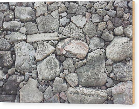 Lava Rock Wall 3 Wood Print