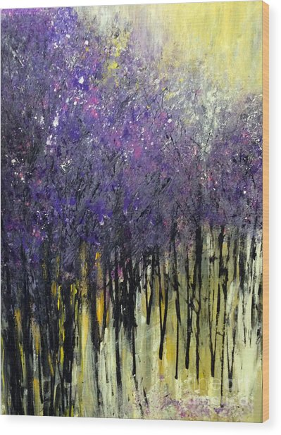 Wood Print featuring the painting Lavender Dreams by Priti Lathia