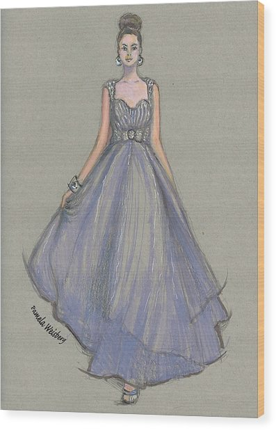 Lavender Gala Illustration Wood Print
