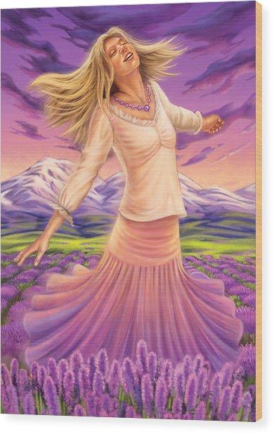 Lavender - Heal Through Joy Wood Print