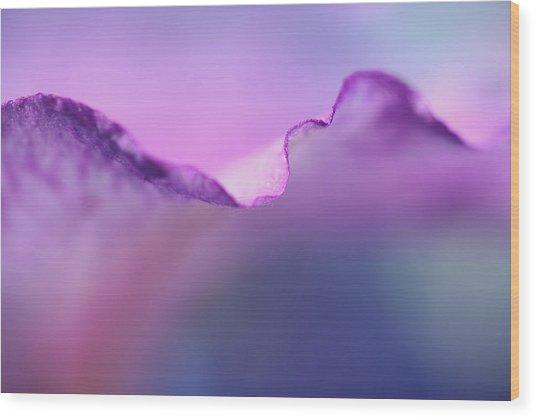 Lavender Lace Wood Print