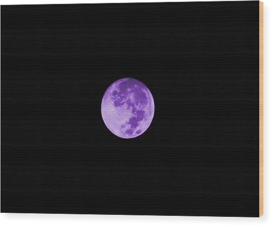 Lavender Moon Wood Print