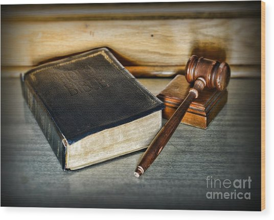 Lawyer - Truth And Justice Wood Print