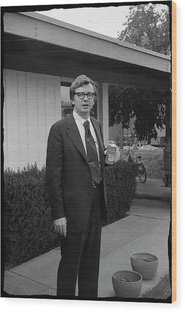 Lawyer With Can Of Tab, 1971 Wood Print
