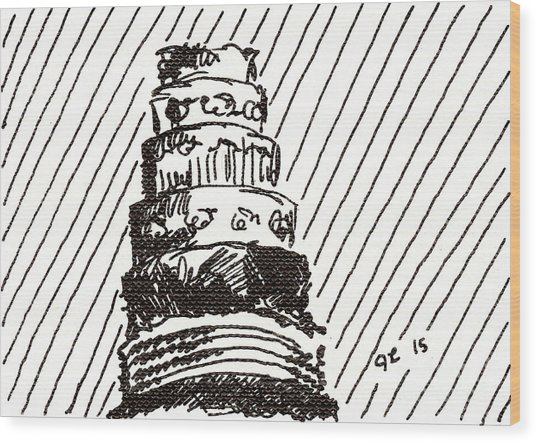 Layer Cake 1 2015 - Aceo Wood Print