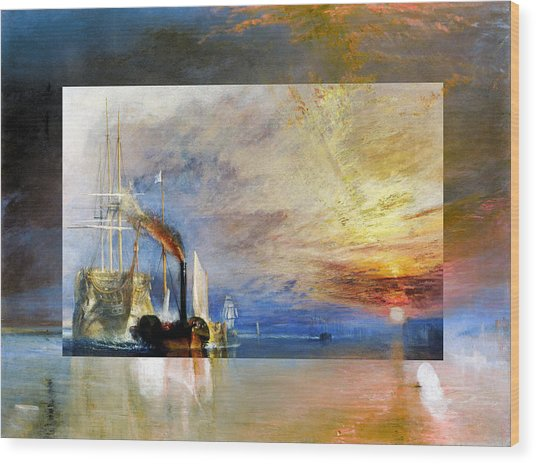 Wood Print featuring the digital art Layered 10 Turner by David Bridburg