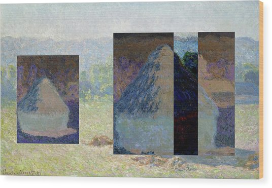 Layered 13 Monet Wood Print