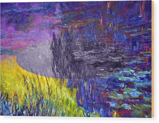 Layered 17 Monet Wood Print