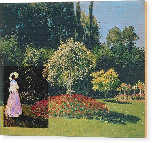 Layered 20 Monet Wood Print