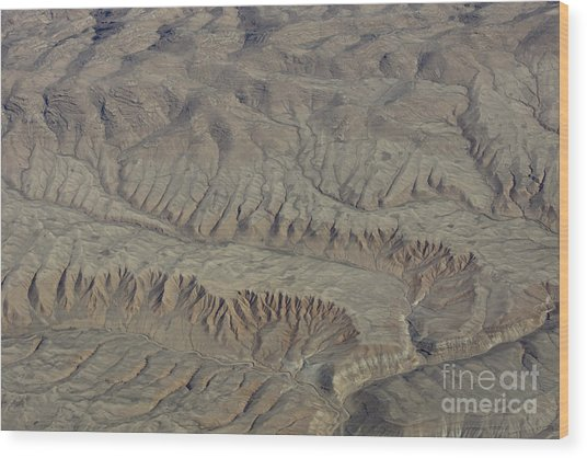 Layers Of Erosion Wood Print by Tim Grams