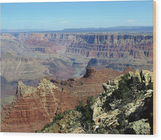 Layers Of The Canyon Wood Print
