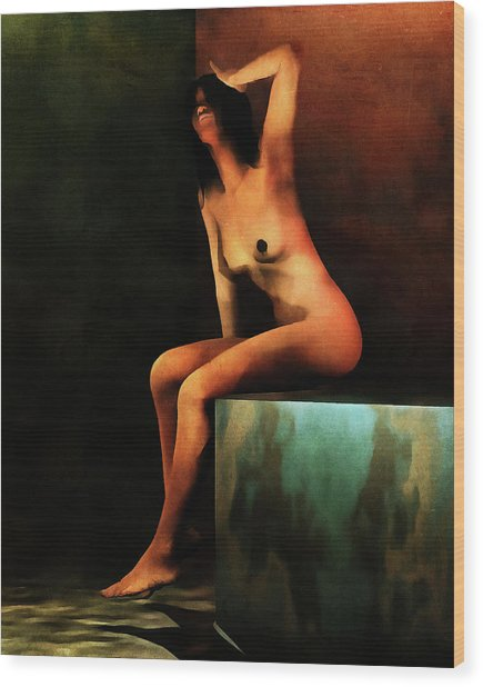 Wood Print featuring the painting Le Bain Du Matin by Jan Keteleer