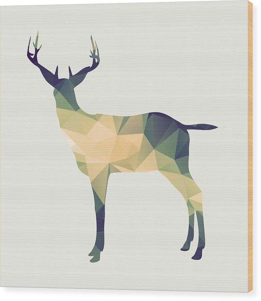 Le Cerf Wood Print