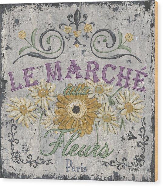 Le Marche Aux Fleurs 1 Wood Print