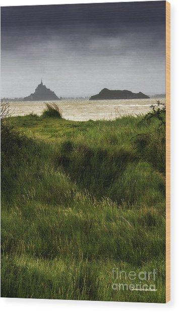 Le Mont Saint-michel Et Tombelaine Wood Print