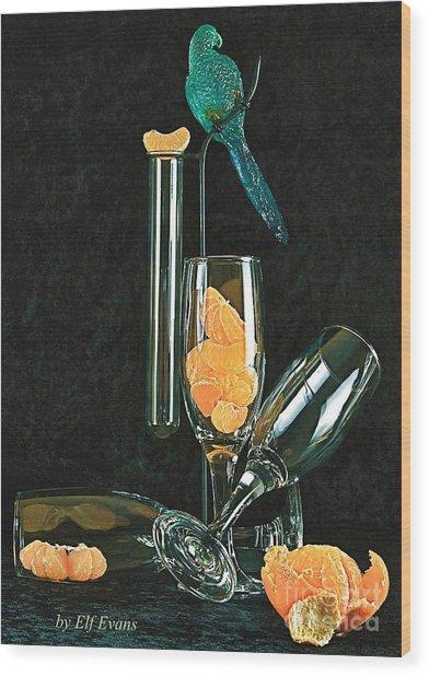 Le Perroquet Vert Wood Print