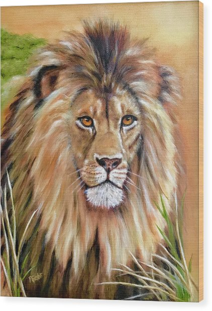 Le Roi-the King, Tribute To Cecil The Lion   Wood Print