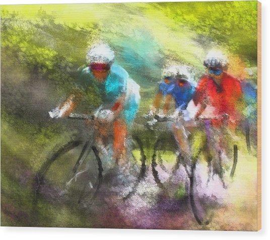 Le Tour De France 11 Wood Print