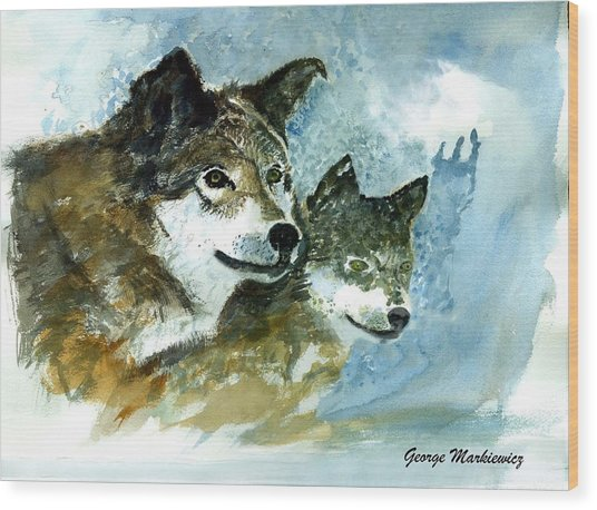 Leader Of The Pack Wood Print by George Markiewicz
