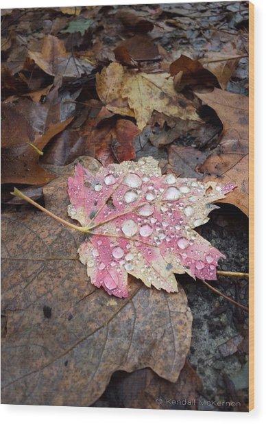 Leaf Bling Wood Print