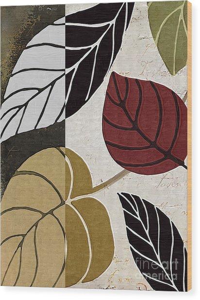 Leaf Story Wood Print