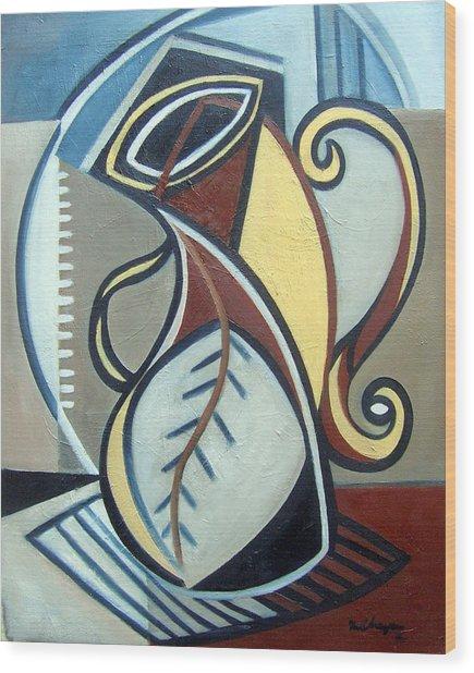 Leaf Vase Wood Print by Martel Chapman