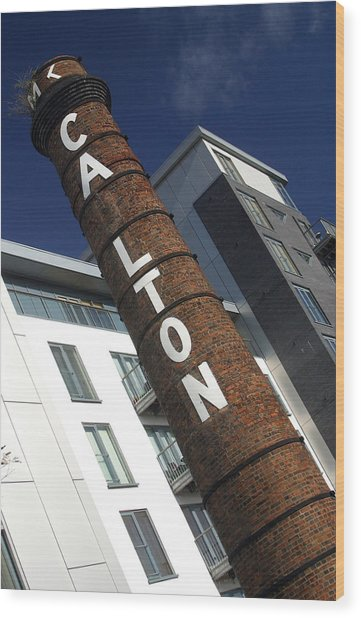 Leaning Tower Of Carlton Wood Print by Jez C Self