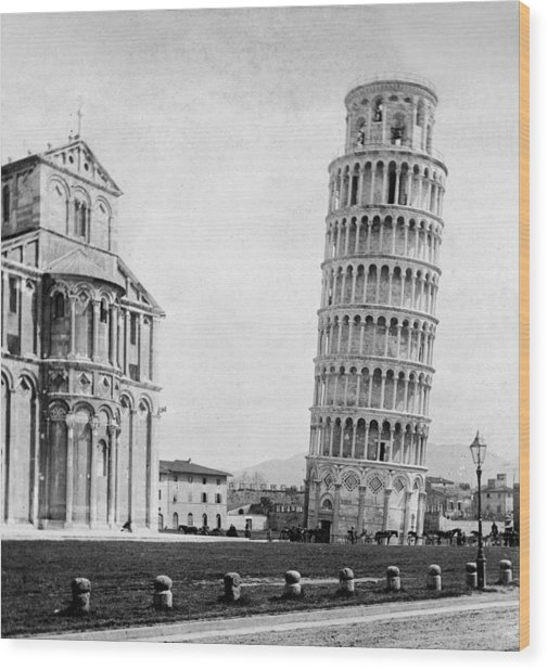 Leaning Tower Of Pisa Italy - C 1902  Wood Print