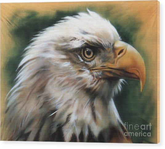 Leather Eagle Wood Print