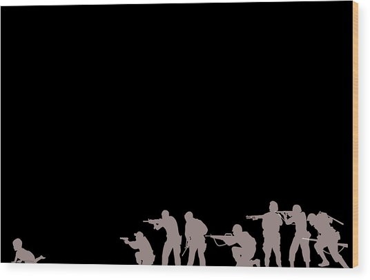 Leave No Child Behind Wood Print by Yannick Pigois Braunschweig