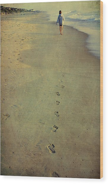 Leave Your Mark Wood Print by JAMART Photography
