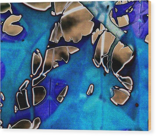 Leaves Abstracted Wood Print