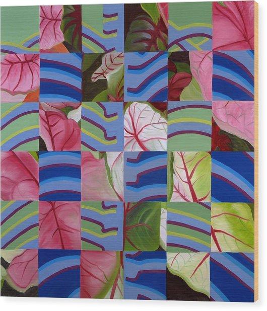 Leaves And Bones Wood Print by Sunhee Kim Jung