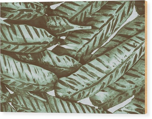 Leaves No. 3-1 Wood Print