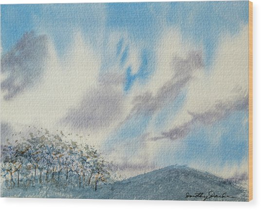 The Blue Hills Of Summer Wood Print