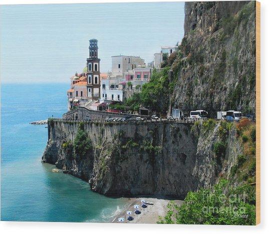 Leaving Atrani  Italy Wood Print