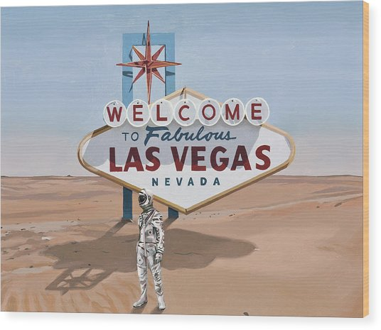 Leaving Las Vegas Wood Print